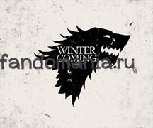 """Коврик для мыши """"Winter is coming""""  (Игра престолов)"""