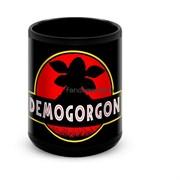 """Большая черная кружка """"Демогоргон""""  (Очень странные дела)"""