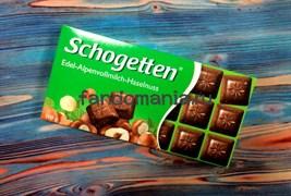 "Шоколад ""Schogetten Edel-Alpenvollmilch-Haselnuss"""