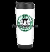 "Термостакан ""Don't blink coffee"" (Доктор Кто)"